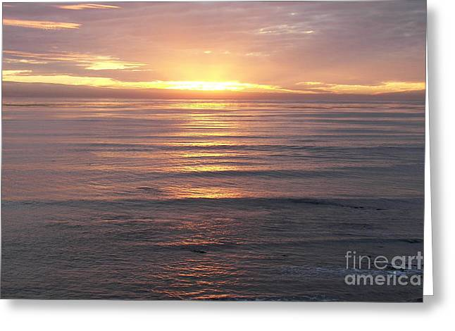 Greeting Card featuring the photograph California Sunset by Carol  Bradley