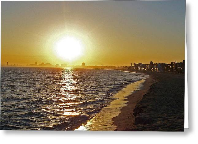 California Sunset Greeting Card by Ernie Echols