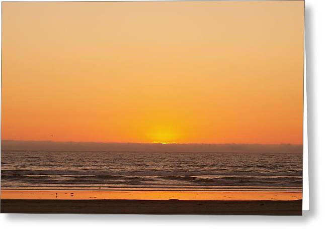 California Sunset Greeting Card by James Johnstone
