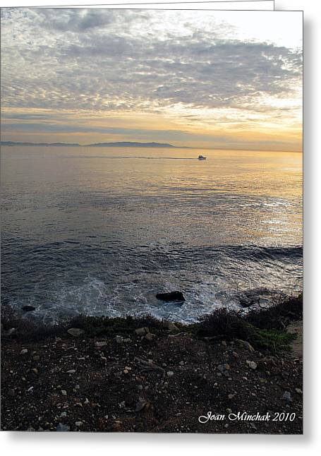 Greeting Card featuring the photograph California Sunset by Joan  Minchak