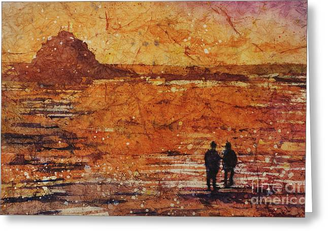 California Sunset Greeting Card by Ryan Fox