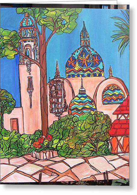 California Towers-balboa Park-san Diego Greeting Card by Michelle Gonzalez