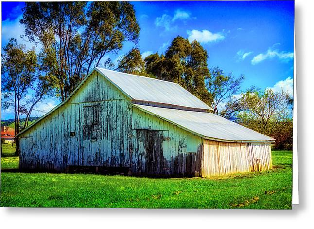 California White Barn Greeting Card by Garry Gay