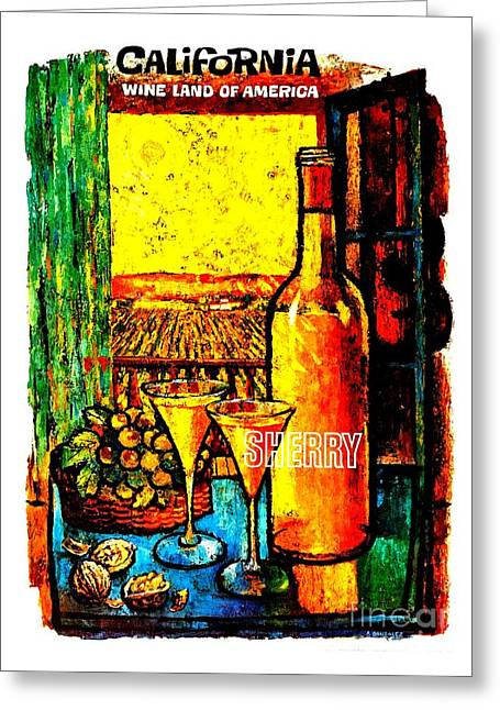 California Wine Board 1950s Wine Land Of America Number 4 Greeting Card