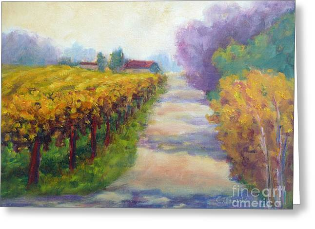 California Wine Country Greeting Card by Carolyn Jarvis