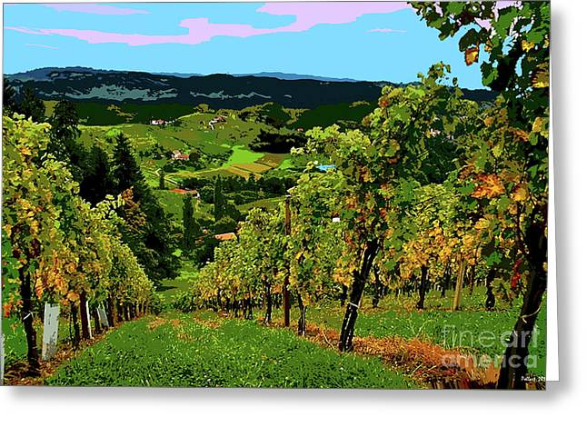 California Wine Country Greeting Card by Thomas Pollart