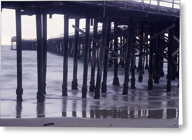 California's Past - Historic Oil Piers  Greeting Card