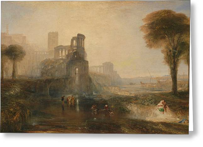 Caligula's Palace And Bridge  Greeting Card by Joseph Mallord William Turner