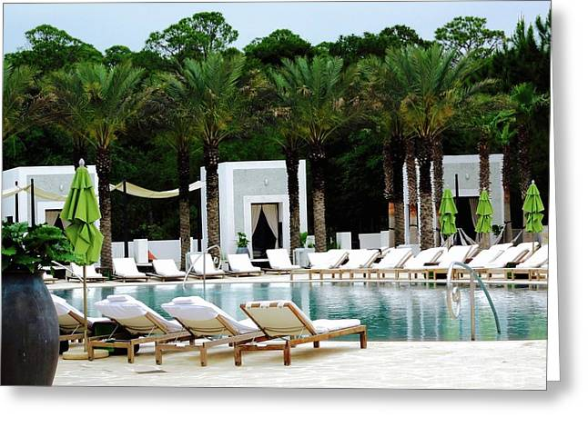 Caliza Pool In Alys Beach Greeting Card