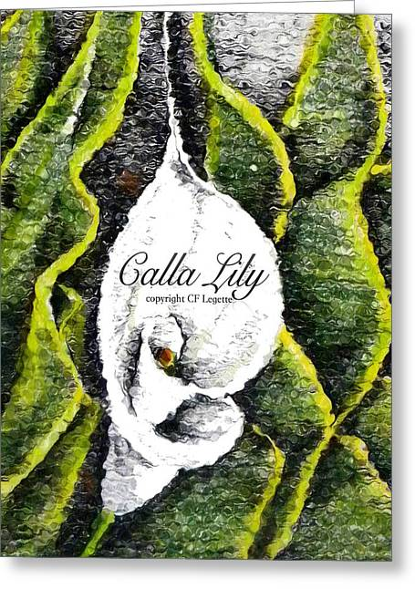 Call Lily  Greeting Card by C F Legette