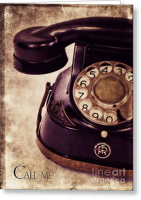 Call Me Greeting Card by Angela Doelling AD DESIGN Photo and PhotoArt