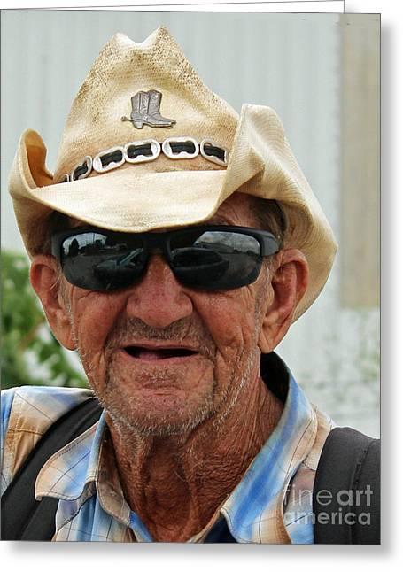 Call Me Cowboy Greeting Card by Joe Jake Pratt