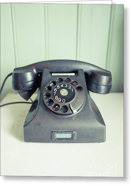 Call Me Old Telephone Greeting Card