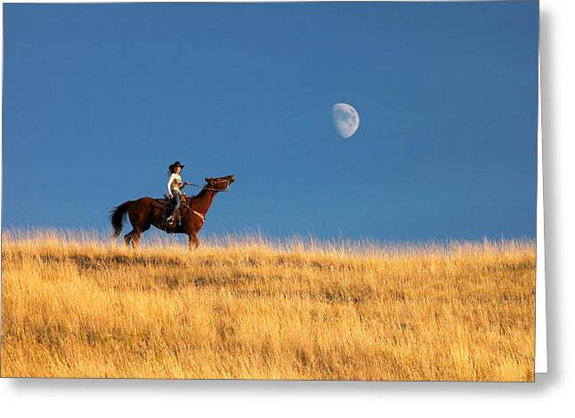 Call Of The Moon Greeting Card