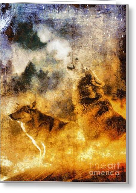 Call Of The Wild - Wolves Greeting Card