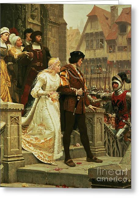 Call To Arms Greeting Card by Edmund Blair Leighton