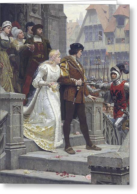 Call To Arms Greeting Card by Edmund Leighton