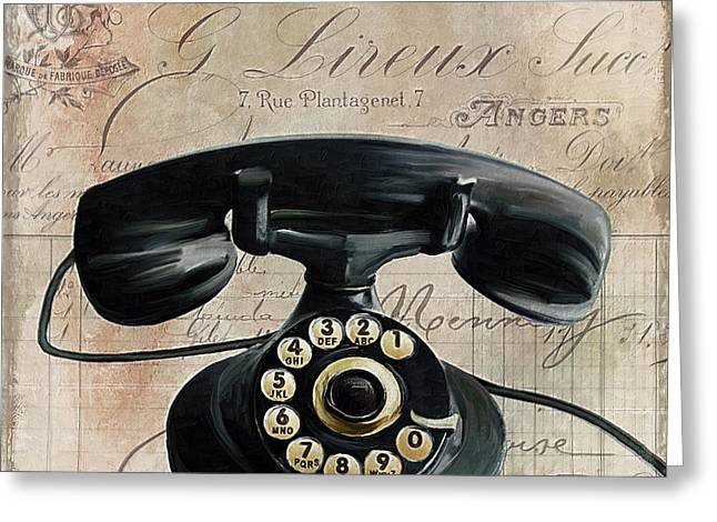 Call Waiting II Greeting Card by Mindy Sommers