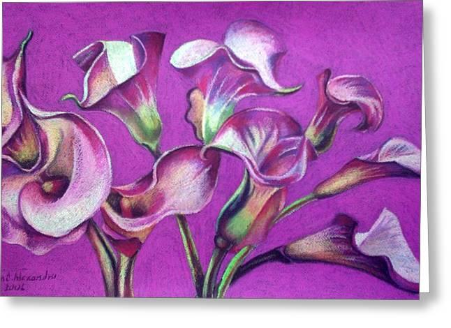 Calla Flowers Greeting Card by Chifan Catalin  Alexandru