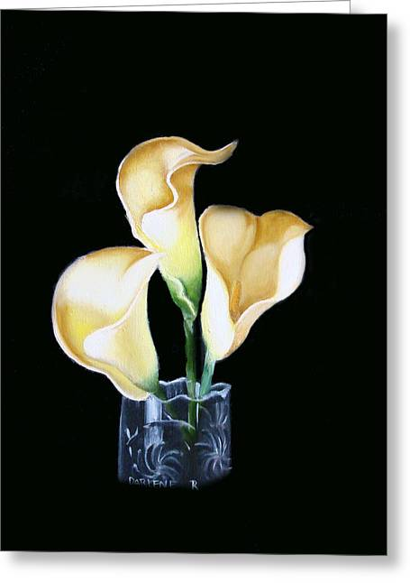 Calla Lily Greeting Card by Darlene Green