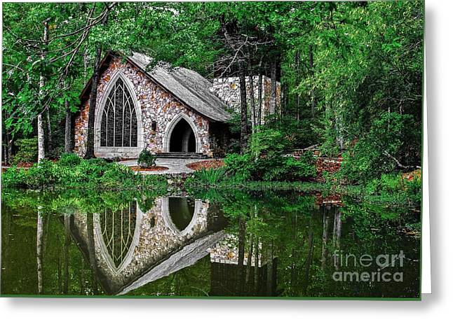 Callaway Gardens Ida Cason Chapel Greeting Card by John Roberts