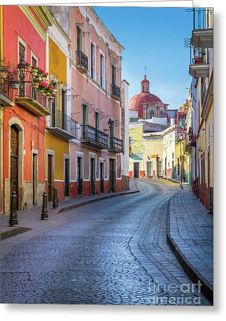 Calle Bonita Greeting Card by Inge Johnsson