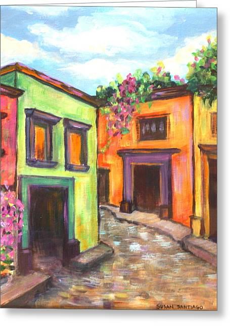 Calle En San Miguel De Allende Greeting Card