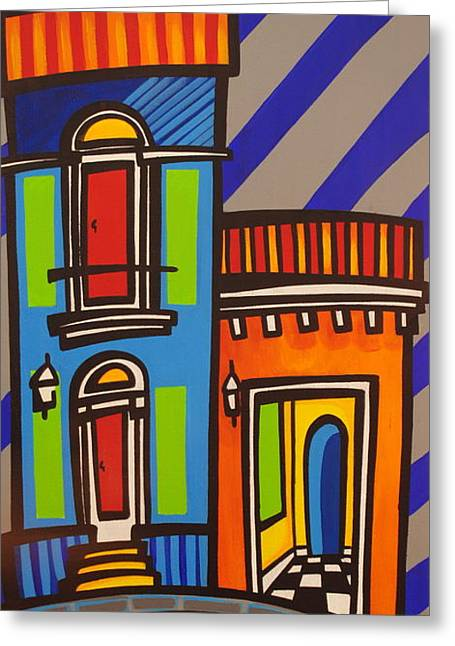 San Juan Puerto Rico Greeting Cards - Calle Luna Greeting Card by Mary Tere Perez