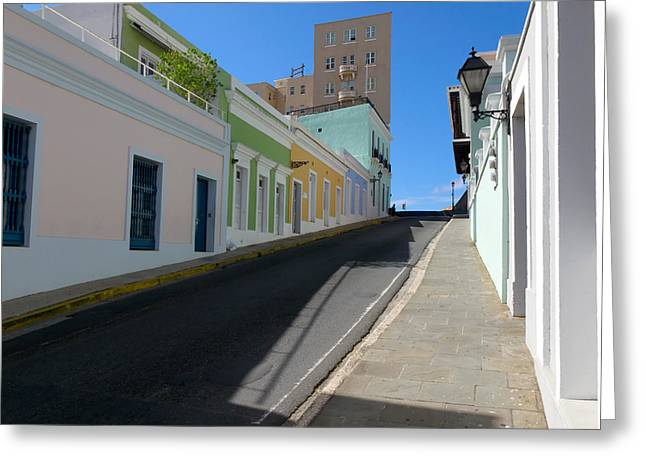 Calle Norzagaray San Juan Puerto Rico Greeting Card by George Oze