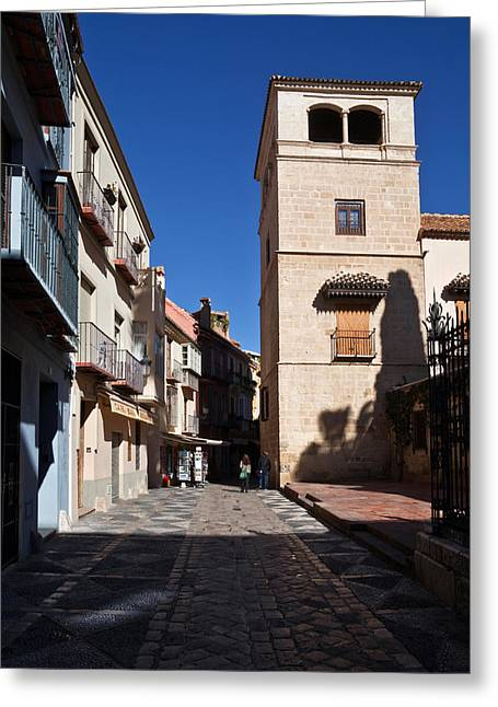 Calle San Agustn,malaga City Greeting Card by Panoramic Images