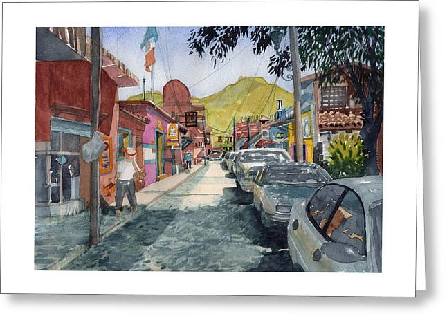 Calle Turistica Mx Greeting Card