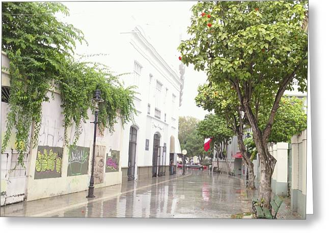Callejon Amor, Ponce, Puerto Rico Greeting Card