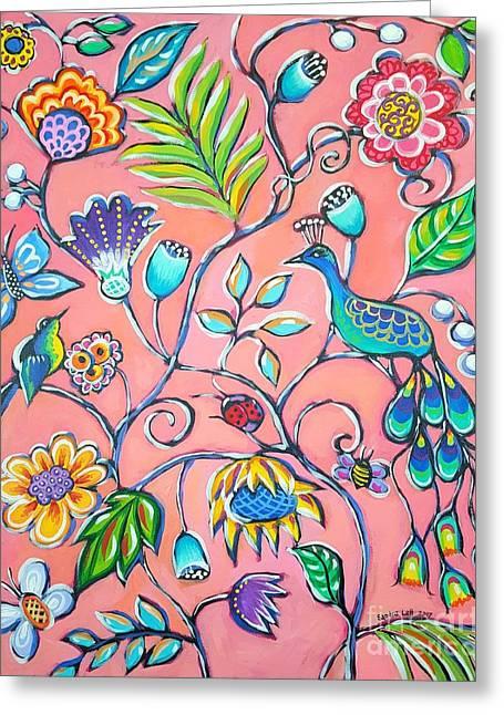 Callies Garden Greeting Card by Sandra Lett