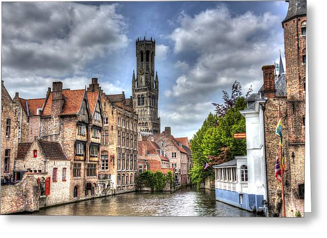Greeting Card featuring the photograph Calm Afternoon In Bruges by Shawn Everhart