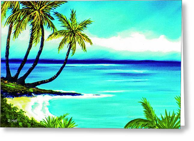 Calm Bay #53 Greeting Card by Donald k Hall