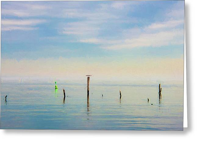 Greeting Card featuring the photograph Calm Bayshore Morning N0 2 by Gary Slawsky