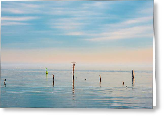 Greeting Card featuring the photograph Calm Bayshore Morning N0 3 by Gary Slawsky