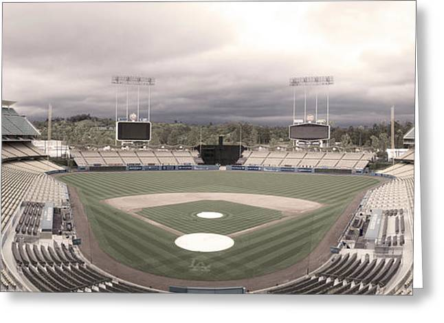 Dodger Stadium Greeting Cards - Calm Before The Blue Storrm Greeting Card by Esteban Ramirez
