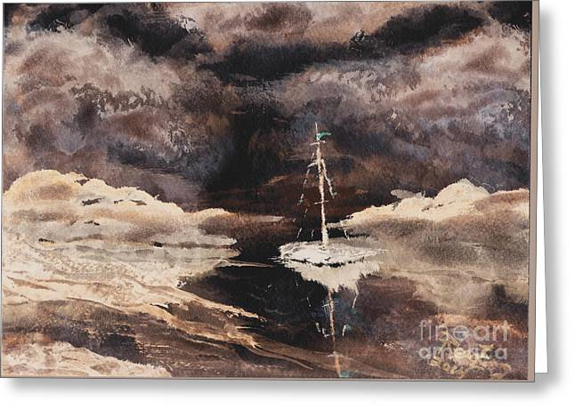 Calm Before The Storm 2 Greeting Card by Reed Novotny