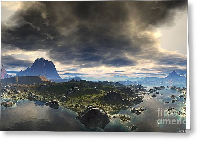 Calm Before The Storm Greeting Card by Heinz G Mielke
