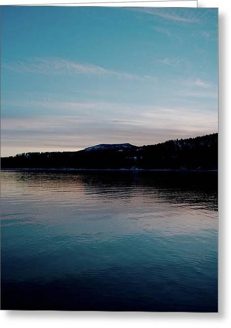 Calm Blue Lake Greeting Card