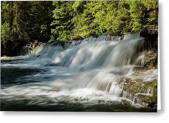 Greeting Card featuring the photograph Calm In Your Heart - Waterfall Art by Jordan Blackstone