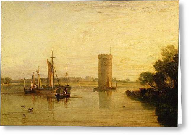 Calm Morning Greeting Card by Joseph Mallord William Turner