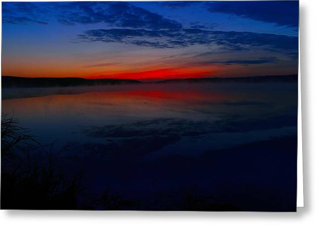 Calm Of Early Morn Greeting Card by Jeff Swan