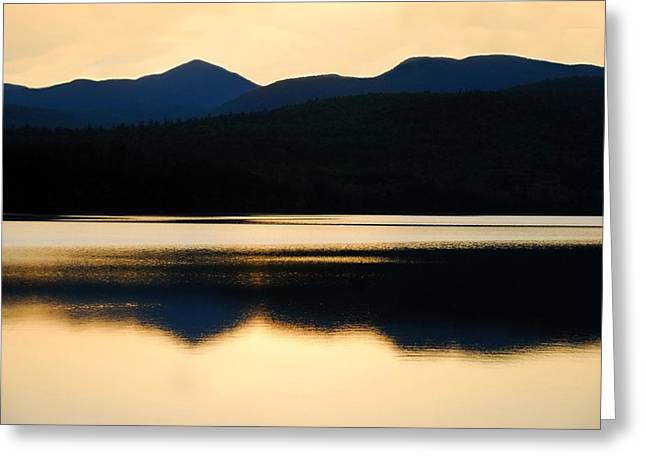 Calm Over Blue Lake Greeting Card