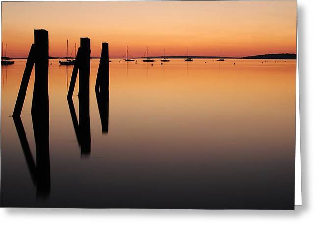 Calm Greeting Card by Paul Noble