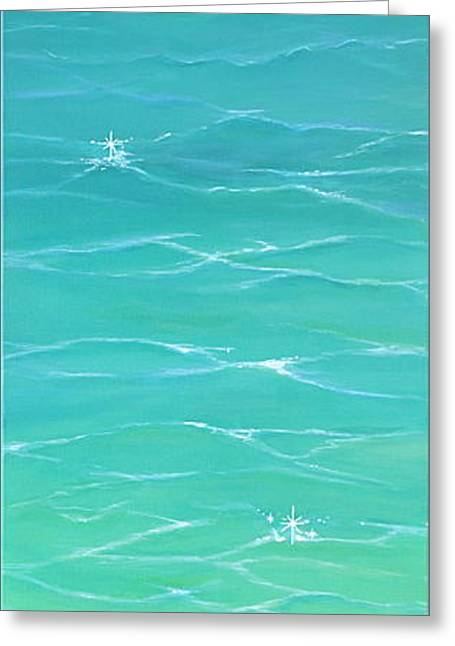 Greeting Card featuring the painting Calm Reflections II by Mary Scott