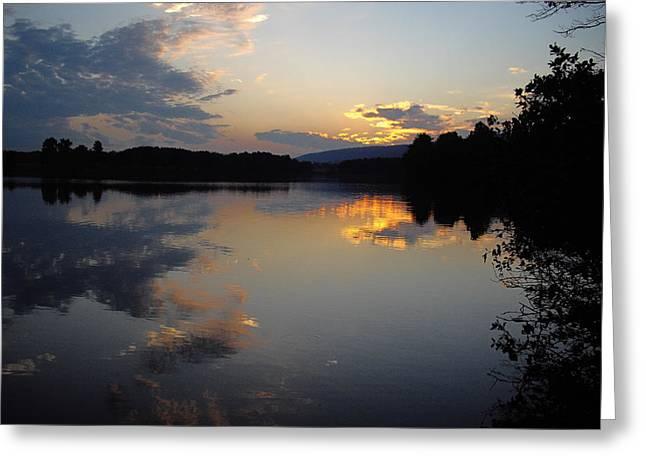 Calm Sunset Greeting Card by Vilas Malankar