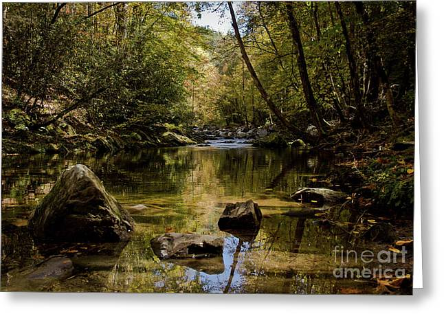 Greeting Card featuring the photograph Calmer Water by Douglas Stucky