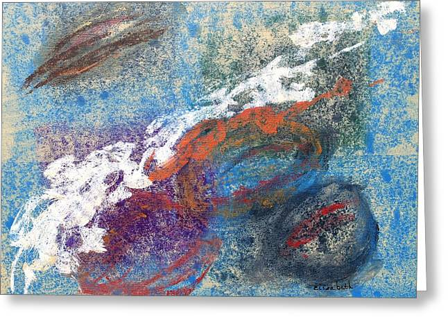 Calming Abstract 2 Of 5 Greeting Card by Beth Maddox